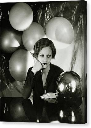Tallulah Bankhead Surrounded By Balloons Canvas Print