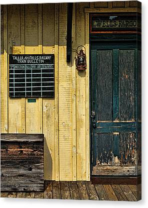 Tallulah Falls Rail Bulletin Canvas Print by Kenny Francis