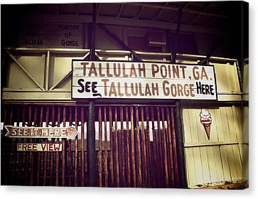 Tallulah Point Canvas Print by Brandon Addis