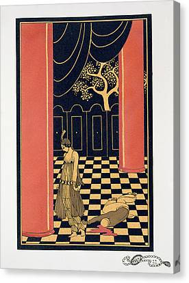 Tamara Karsavina Canvas Print by Georges Barbier