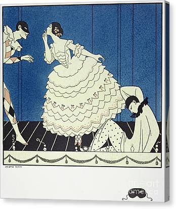 Tamara Karsavinaas Columbine Canvas Print by Georges Barbier