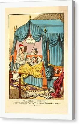 Tameing I.e. Taming A Shrew. Or Petruchios Patent Family Canvas Print by English School