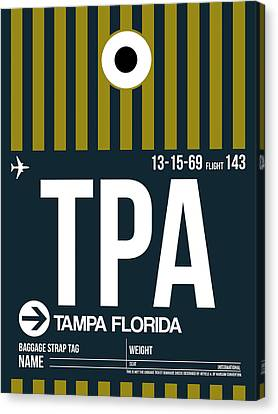 Tampa Canvas Print - Tampa Airport Poster 1 by Naxart Studio
