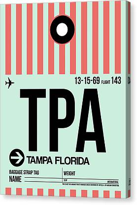 Tampa Airport Poster Canvas Print by Naxart Studio
