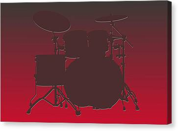 Tampa Bay Buccaneers Drum Set Canvas Print by Joe Hamilton