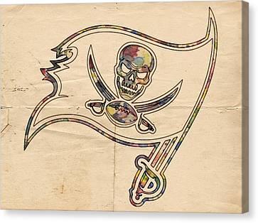 Tampa Bay Buccaneers Poster Art Canvas Print by Florian Rodarte
