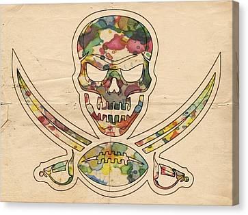 Tampa Bay Buccaneers Poster Vintage Canvas Print by Florian Rodarte