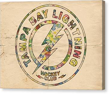 Tampa Bay Lightning Logo Art Canvas Print