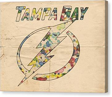 Tampa Bay Lightning Retro Poster Canvas Print