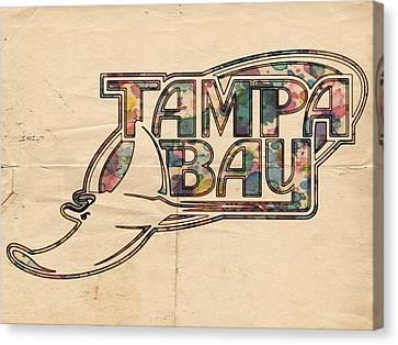 Devil Ray Canvas Print - Tampa Bay Rays Poster Art by Florian Rodarte