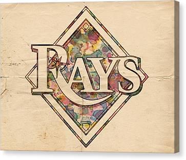 Devil Ray Canvas Print - Tampa Bay Rays Vintage Art by Florian Rodarte