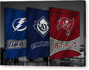 Tampa Bay Sports Teams Canvas Print by Joe Hamilton