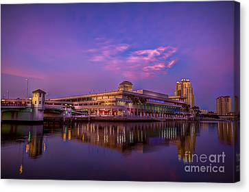 Tampa Convention Center At Dusk Canvas Print by Marvin Spates
