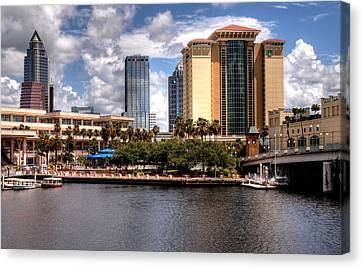 Canvas Print featuring the photograph Tampa by Jim Hill
