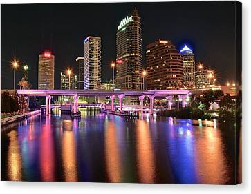 Tampa Lights Canvas Print by Frozen in Time Fine Art Photography