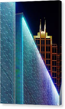 Canvas Print featuring the photograph Tampa Museum Of Art At Night by Daniel Woodrum