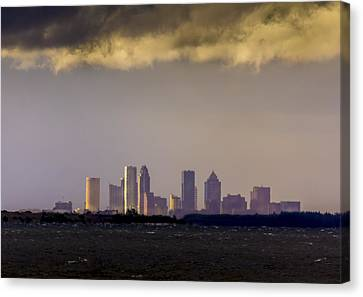 Tampa On The Horizon Canvas Print by Marvin Spates