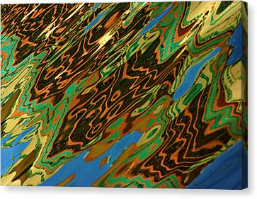 Canvas Print featuring the photograph Tampa Reflection Abstract IIi by Daniel Woodrum