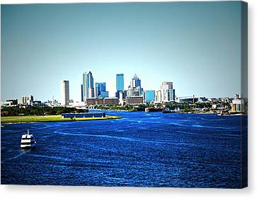 Tampa Skyline Canvas Print by Aimee L Maher Photography and Art Visit ALMGallerydotcom