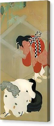 Hair-washing Canvas Print - Tanabata Festival by Mountain Dreams