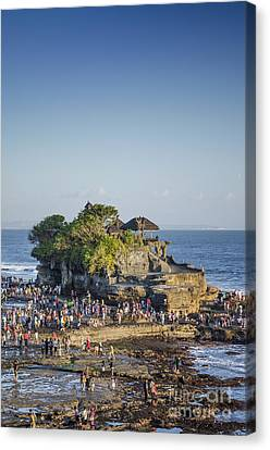 Tanah Lot Temple In Bali Indonesia Coast Canvas Print