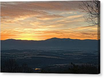 Tangerine Blue Ridge Skies Canvas Print
