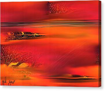 Canvas Print featuring the painting Tangerine Dream by Yul Olaivar
