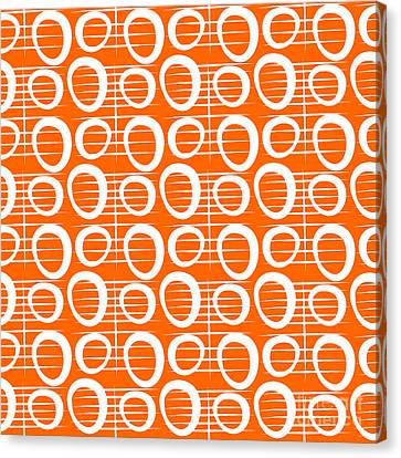 Repeat Canvas Print - Tangerine Loop by Linda Woods