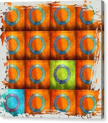 Tangerine Squares Canvas Print by Bonnie Bruno