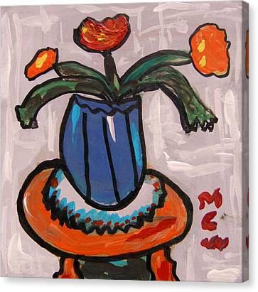 Tangerine Table Canvas Print by Mary Carol Williams