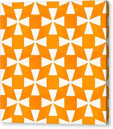 Tangerine Twirl Canvas Print by Linda Woods