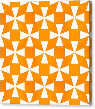 Tangerine Twirl Canvas Print
