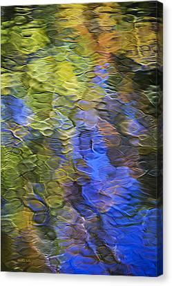 Tangerine Twist Mosaic Abstract Art Canvas Print by Christina Rollo