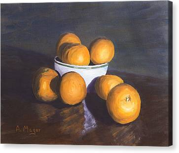 Tangerines Canvas Print by Alan Mager