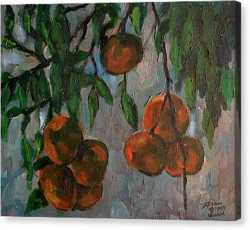 Tangerines At Dawn Canvas Print by Peter Paul Christian Mahilum