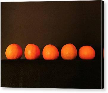 Tangerines Canvas Print by Patricia Januszkiewicz