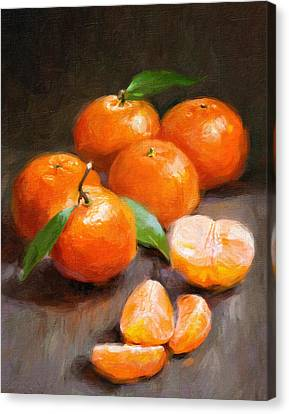 Tangerines Canvas Print by Robert Papp