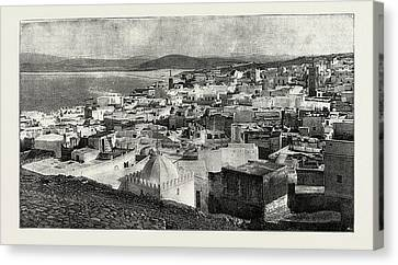 Moroccan Canvas Print - Tangier From The Kesba, Tangier, Morocco by Litz Collection