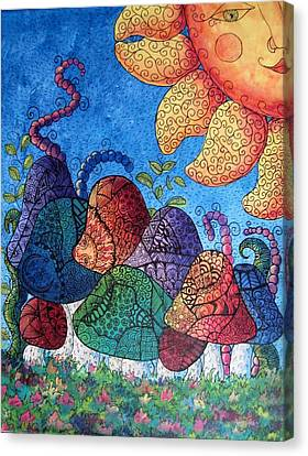 Tangled Mushrooms Canvas Print by Megan Walsh