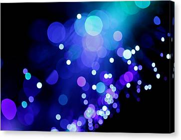Tangled Up In Blue Canvas Print by Dazzle Zazz