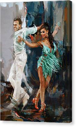 Performers Canvas Print - Tango 4 by Mahnoor Shah