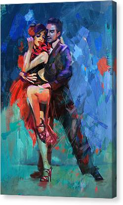 Performers Canvas Print - Tango 5 by Mahnoor Shah