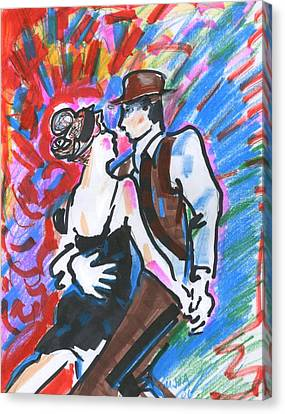 Tango A Canvas Print by Mary Armstrong