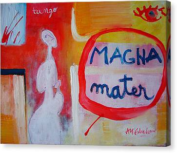 Canvas Print featuring the painting Tango by Ana Maria Edulescu
