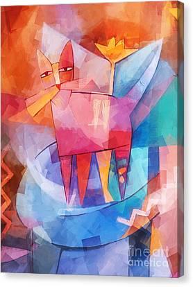 Tango Cat Cubic Canvas Print
