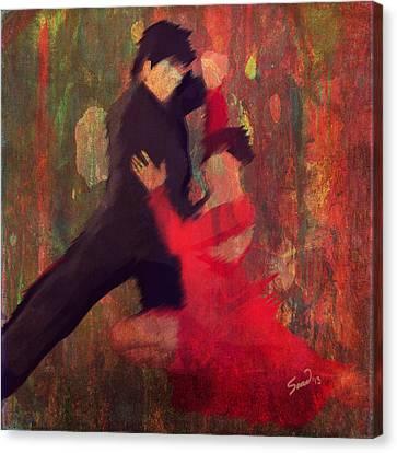 Tango De Fuego/fire Tango Canvas Print