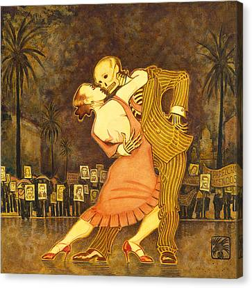 Tango En La Plaza De Mayo Canvas Print by Ruth Hooper