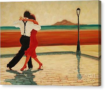 Tango Heat Canvas Print by Janet McDonald