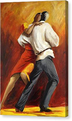 Canvas Print featuring the painting Tango by Sheri  Chakamian