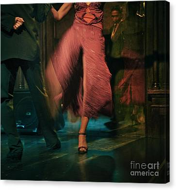 Canvas Print featuring the photograph Tango - The Dance by Michel Verhoef